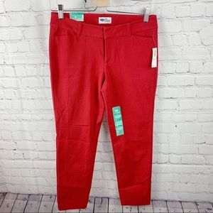Old Navy Bright Red Pixie Mid-Rise Ankle Pants